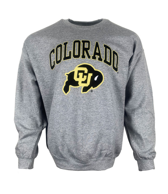 Long Sleeve Colorado University (CU) Crew, heather grey