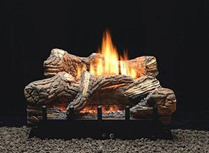 "Empire Comfort Systems Flint Hill Manual 5-piece 18"" Ceramic Fiber Log Set - Liquid Propane"