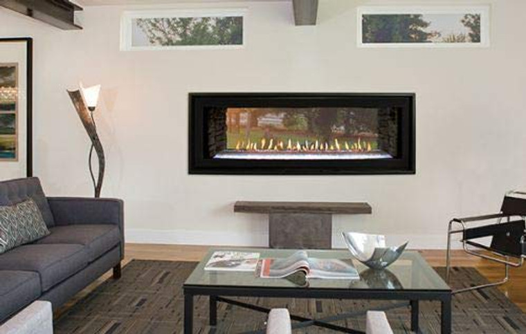 """Empire Comfort Systems Boulevard 48"""" DV Linear See-Thru Fireplace w/Remote - LP"""