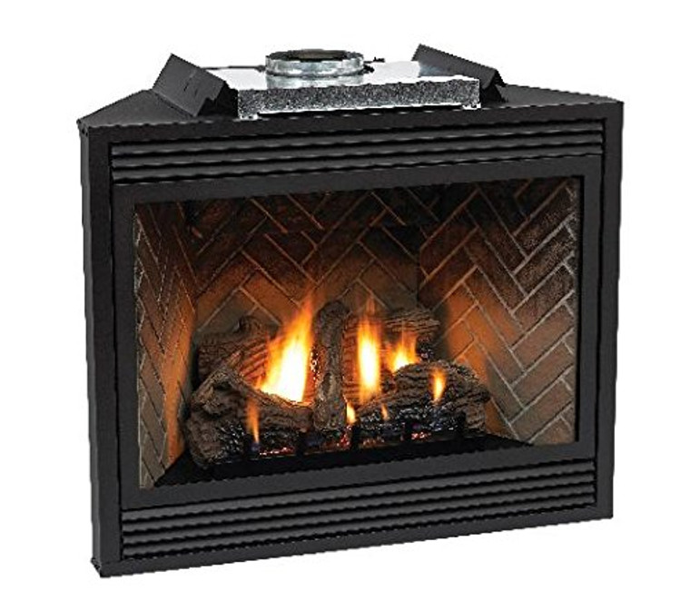 """Empire Tahoe Premium 36"""" Direct-Vent Natural Gas Millivolt Control Fireplace with Blower"""