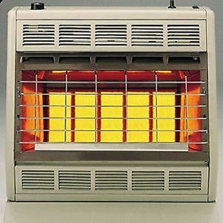 Empire SR30T Infrared Heater Natural Gas 30000 BTU, Thermostatic Control with Floor Stand