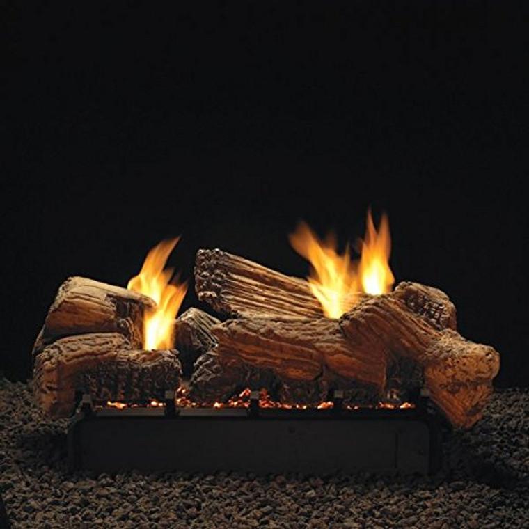 """Empire Comfort Systems 24"""" Stone River Logset with IP VF/V Slope Glaze Vista Burner, LP"""