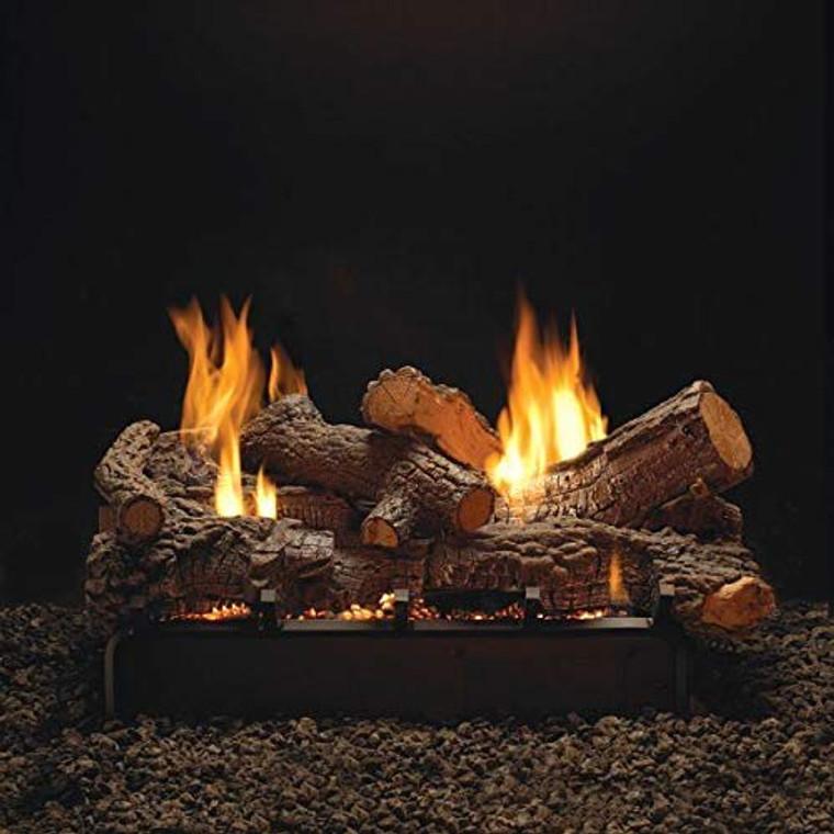"""Empire Comfort Systems 24"""" Rock Creek Logset with IP VF/V Slope Glaze Vista Burner, LP"""