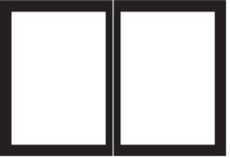 "Empire Comfort Systems Rectangle Door Set for Tahoe Deluxe 48"" Fireplaces - Matte Black"