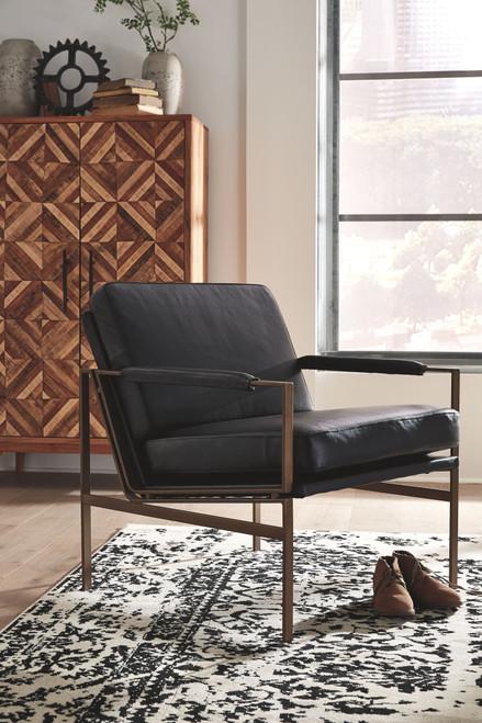 Puckman Black Accent Chair