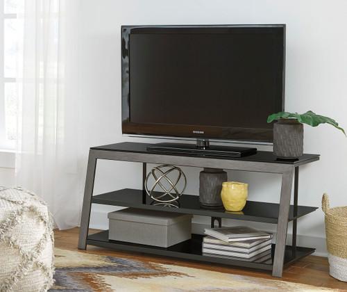 Rollynx Black TV Stand