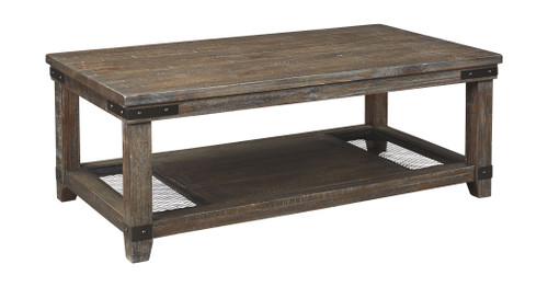 DANELL RIDGE BROWN RECTANGUALR COCKTAIL TABLE