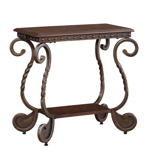 RAFFTERTY DARK BROWN CHAIR SIDE END TABLE