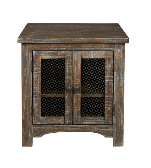 DANELL RIDGE BROWN SQUARE END TABLE