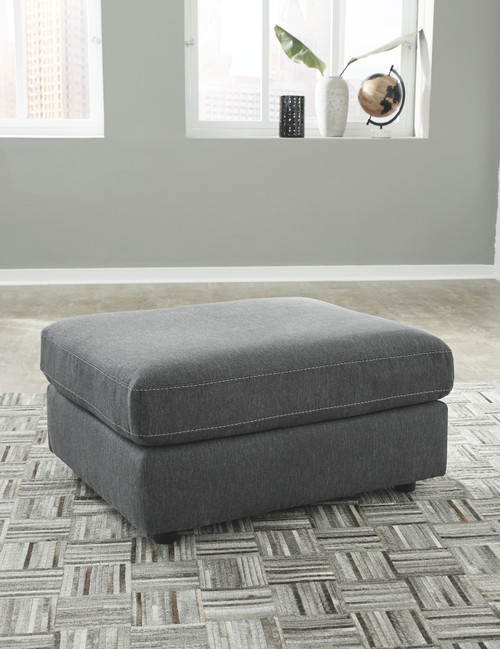 Candela Charcoal Oversized Accent Ottoman