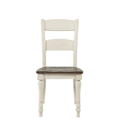 MADISON COUNTY VINTAGE WHITE DINING CHAIR