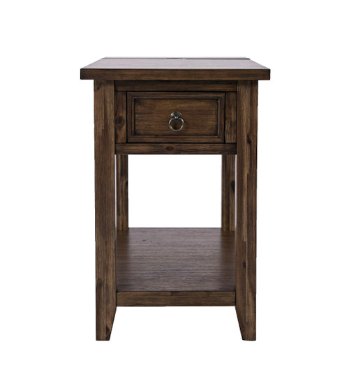BAKERSFIELD POWER CHARSIDE END TABLE