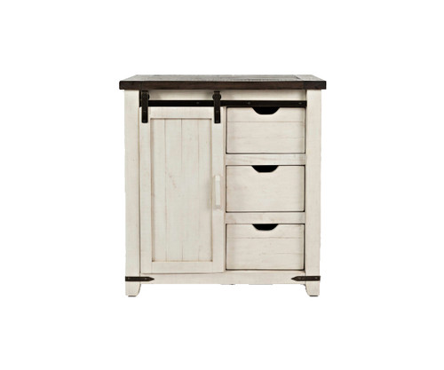 MADISON COUNTY 3 DRAWER ACCENT CABINET-VINTAGE WHITE
