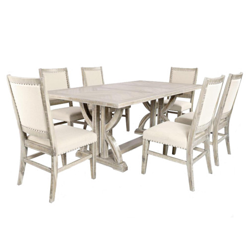 """78"""" FAIRVIEW ASH COUNTER HEIGHT DINING SET"""