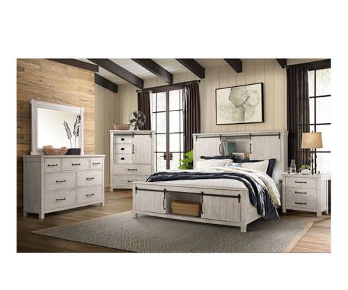 SCOTT WHITE 4-PC BEDROOM SET