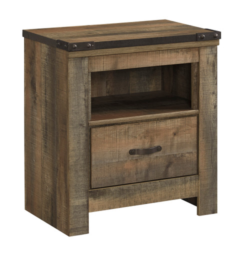 TRINELL BROWN 1-DRAWER NIGHTSTAND