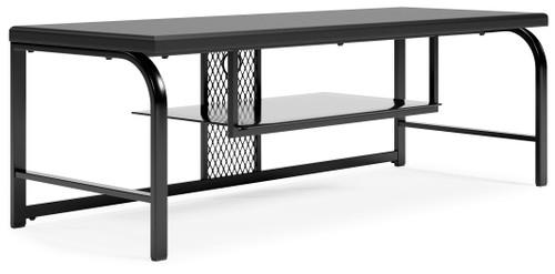 Lynxtyn Black TV Stand