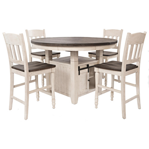 """MADISON COUNTY 54"""" ROUND HIGH/LOW  DINING SET"""