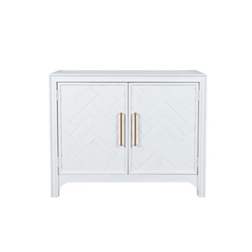 GRAMMERCY 2 DOOR ACCENT CABINET-WHITE