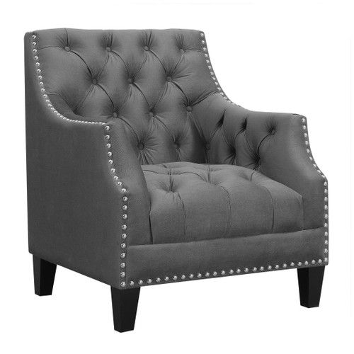 NORWAY ACCENT CHAIR-CHARCOAL
