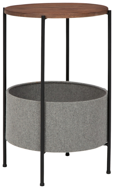 Brookway Black/Light Gray Accent Table