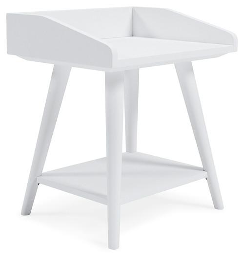 Blariden White Accent Table