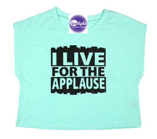 C-I Live for the Applause Crop Top