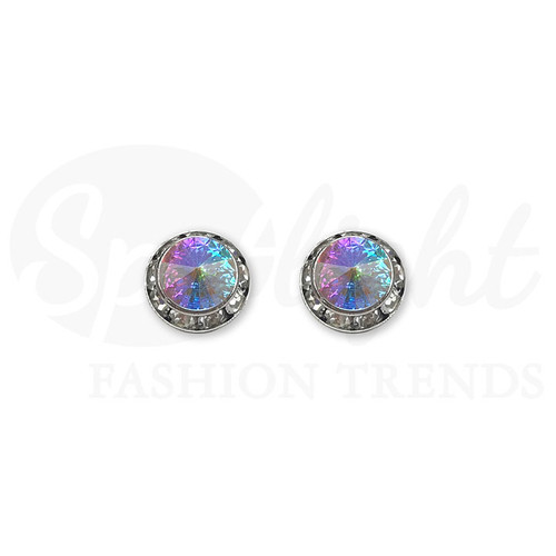 MultiStone Earrings (Swarovski) 15mm AB