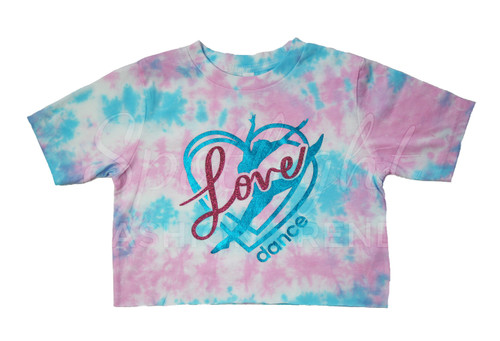 Love Dance (Taylor Swift Inspired) TieDye Crop Top