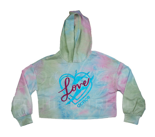 *Love Dance (Taylor Swift Inspired) TieDye Crop Hoodie