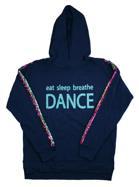 *Eat Sleep Breathe Sequin Hoodie