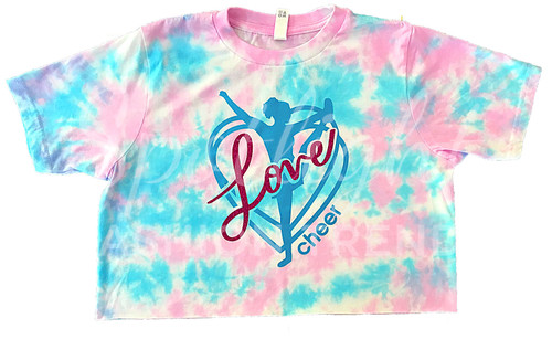 Love Cheer TieDye Crop Top