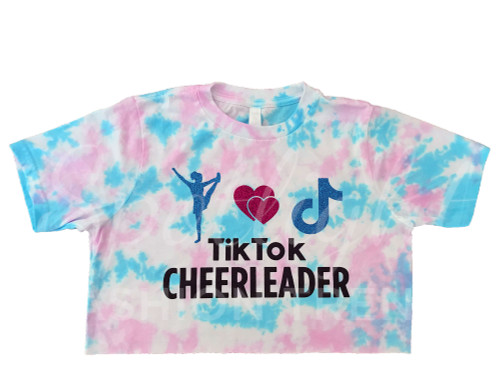 TikTok Cheerleader TieDye Crop Top