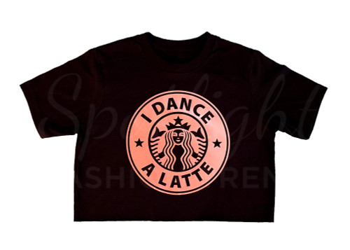 I Dance a Latte Crop Top - BLACK/ROSE