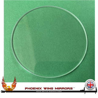 101mmø Diameter Instrument Gauge Bezel Replacement Glass Flat 2mm Thickness
