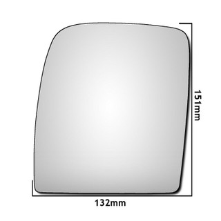 Left Hand Passeng Side Peugeot Expert Mk2 Van 2007-2016 Convex Wing Mirror Glass