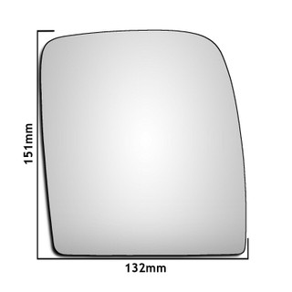 Right Hand Driver Side Peugeot Expert Mk2 Van 2007-2016 Convex Wing Mirror Glass