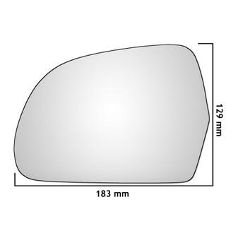 Left Hand Passenger Side Audi S3 Mk2 2008-2010 Convex Wing Door Mirror Glass