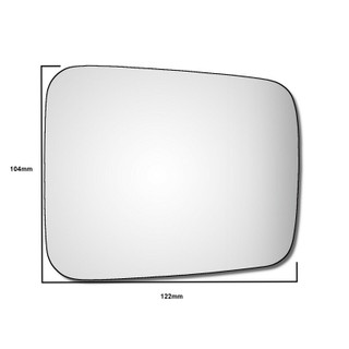 Right Hand/Off Side BMW K1100 LT/RS Motorbike 1983-1992 Convex Wing Mirror Glass