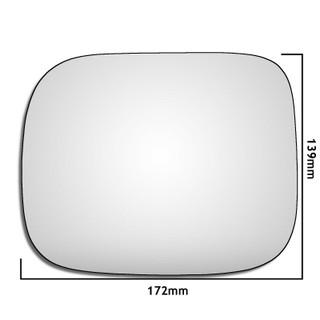 Left Hand Passenger Side Volvo XC90 2007-2014 Convex Wing Door Mirror Glass