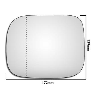Left Hand Passenger Side Volvo XC90 2007-2014 Wide Angle Wing Door Mirror Glass