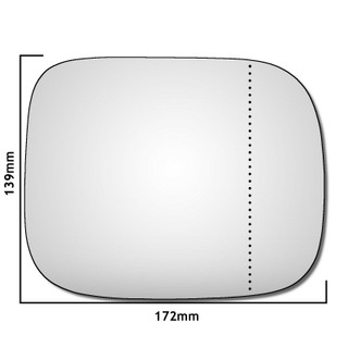 Right Hand Drivers Side Volvo XC70 2007-2017 Wide Angle Wing Door Mirror Glass