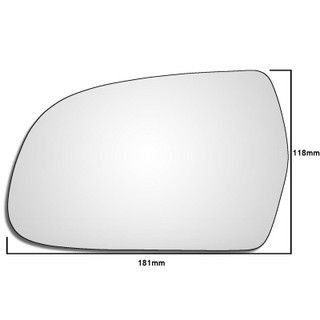 Left Hand Passenger Side Audi A4 / S4 B8 2010-2015 Convex Wing Door Mirror Glass