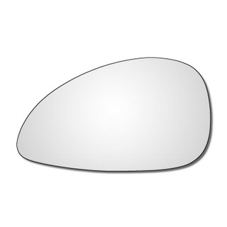 Left Hand Passenger Side Citroen C4 Mk1 2004-2010 Convex Wing Door Mirror Glass