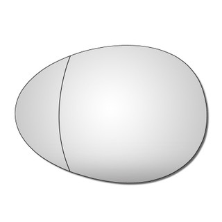 Left Hand Passeng Side Mini R56 Hatchback 2006-2013 Wide Angle Wing Mirror Glass