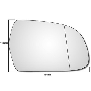 Right Hand Drivers Side Audi A3 / S3 MK2 2010-2013 Wide Angle Wing Mirror Glass
