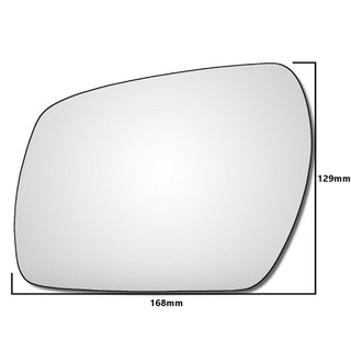 Left Hand Passenger Side Ford Fusion 2009-2015 Convex Wing Door Mirror Glass