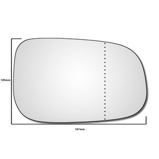 Right Hand Drivers Side Volvo V70 2007-2009 Wide Angle Wing Door Mirror Glass