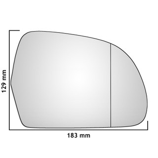 Right Hand Drivers Side Audi A3 / S3 Mk2 2008-2010 Wide Angle Wing Mirror Glass