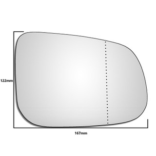 Right Hand Drivers Side Jaguar XK / XKR 2009-2015 Wide Angle Wing Mirror Glass